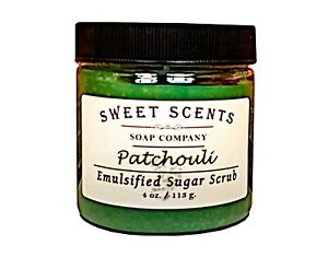 Emulsified Sugar Scrub - Patchouli Handmade Exfoliating Scrub