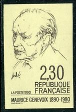 STAMP / TIMBRE FRANCE NEUF N° 2671 ** NON DENTELE / MAURICE GENEVOIX