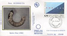 FRANCE FDC - 2987 1 TABLEAU JAN DIBBETS - 10 Fevrier 1996 - LUXE sur soie