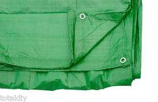 TARPAULIN GROUND SHEET 6FT X 6FT 1.8M X 1.8M GREEN T0