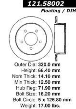 121.58002 - Centric Disc Brake Rotor,  Free Shipping!