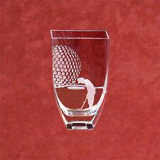 "Crystal "" The Golfer"" Vase Award"