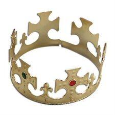 Medieval Gold Kings Crown Adjustable Hat Fancy Dress Costume Adult NEW P1575