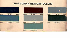 1942 FORD MERCURY DELUXE COUPE WOODY 42 PAINT CHIPS ARCO