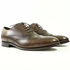CANALI 1934 Brown Leather Wingtip Oxford Shoes - Sz 9.5/42.5 - Italy