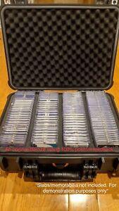 Large Black IP65 Waterproof Storage Travel Case for Graded Card Slab Holders NEW