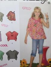 Simplicity Sewing Pattern 1674 Girls Child Tops Size 8-16 Uncut