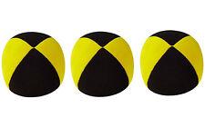 3 X  Henrys Jonglierball Bean Bag Superior medium 67 mm SCHWARZ-GELB