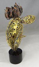 "Friedle Brutal Signed Metal Sculpture Cactus Flower Prickly Pear C Jere Era 12"""