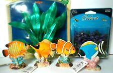 New listing Lot of 4 Penn Plax Deco Glow In The Dark Fish Aquarium Ornament Plus Plants New