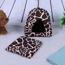 Soft Strawberry Pet Igloo Dog Cat Bed House Kennel Doggy Fashion Cushion Basket