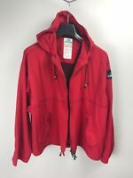Adidas Equipment Vintage Hooded Track Top Jacket M Medium Red Rare