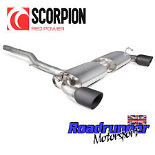 Scorpion Golf R32 MK4 Exhaust System Cat Back Non Res Louder Black Tips SVWS040C