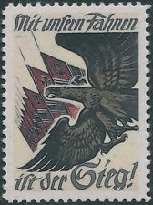 Stamp Replica Label Germany 0141 WWII Eagle and Iron Cross Flags MNH