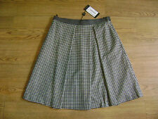 Max Mara skirt.RRP £160.Size 16.New+tags.Black gingham check.Virgin wool.