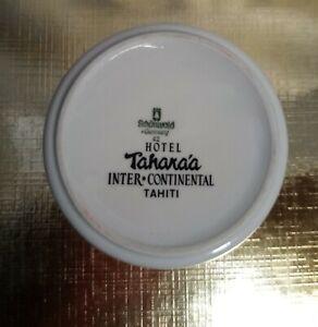 Cendrier porcelaine publicitaire Hôtel Inter Continental Tahara'a Tahiti  70'