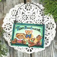 Mini Gift Sign Ornament Teddy Bear Collector DecoWords USA New in Pkg Free Ship