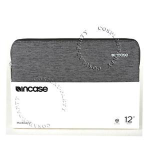 "Incase Slim Sleeve MacBook 12"" Padded Zipper Slip Pouch Case - Heather Black"