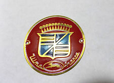 Vespa Lambretta Ulma round badge brass NEW 54mm