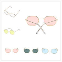 Trend Retro Hexagon Sunglasses Women Men Sun Glasses Metal Frame Unisex Eyewear