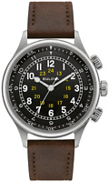 Bulova A-15 Pilot Men's  42 mm Automatic Watch w/ Leather Strap