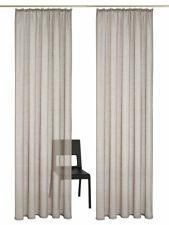 Gardinen transparent Kräuselband Vorhang Schal Stores Leinenoptik Sternen #961-K