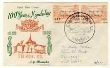 BURMA-NICE COVER CELEBRATING 100 YEARS OF MANDALAY+SPECIAL POSTMARK