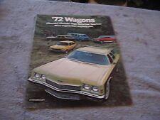 1972 Chevrolet Wagons Full Color Sales Brochure Chevrolet Chevelle  Suburban