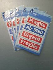 Fragile Air Mail Urgent Self Adhesive Postage Mailing Labels 140 stickers