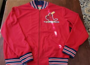 St. Louis Cardinals Mitchell And Ness 80's Track Jacket