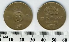 Sweden 1955 - 5 Ore Bronze Coin - King Gustaf VI Adolf