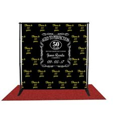 Custom Step and Repeat banner + Adjustable stand + Red Carpet for all occasions'