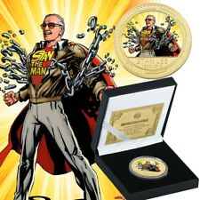 WR Stan Lee Gold Commemorative Coins for Fans Collection Souvenir Gifts Case