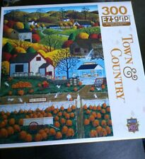"""TOWN & COUNTRY 300 EZ-GRIP LARGE PIECE PUZZLE AUTUMN MORNING 18""""x24"""" ~ NEW"""