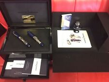 Ulysse Nardin Model PEN-9107 and Visconti fountain pen sterling silver and blue