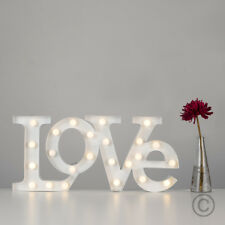 Modern Battery Operated 52cm LED Love Letters Table Lamp Light Home Decor Lights