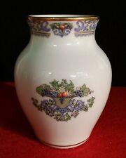Vtg Lenox China Autumn Vase Small Hand Decorated 24K Gold Trim Painted Usa 4 5/8