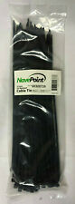 "Nave Point 12"" UV Resistant CABLE Tie Package of 100 BLACK"