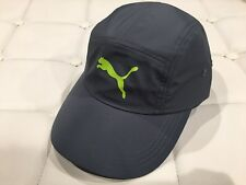 Puma Gray Staunton Running Cap Hat Curved bill Adjustable