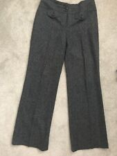 Womens Grey Wool Effect Next Trousers Size 10 Long