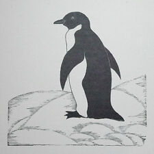 THE PENGUIN : 1920s Print of an Woodcut / Etching of Birds, Bird Art By DAGLISH