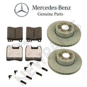 For Mercedes 400SE CL500 Front Brake Pad Set w/ Disc Vented & Sensors KIT