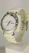 Diesel DZ1168 men's watch full white of rubber and steel DZ-1168 analog 10 ATM