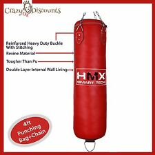 4FT PUNCHING BAG BOXING MARTIAL ART KICK BOX MMA TRAINING SPARRING SWIVEL CHAIN