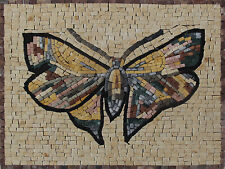 "Butterfly MARBLE TILE Art 16""x12"" Mosaic Home Decor AN195"