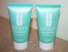 2 x Clinique Acne Solutions Cleansing Gel 1 oz Travel Size = 2 oz face cleanser