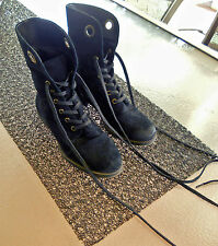 Ladies Nine West Vintage America Collection Peroxy black suede ankle boots 6.5 M