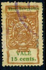 Nicaragua 1906 ABNC 15¢ Telegrafos VFU D831
