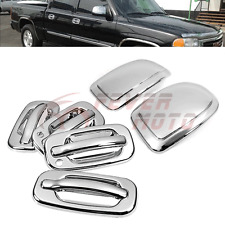 Chrome Side Door Handle Cover+Mirror Cover Fit Chevy Suburban Tahoe/GMC Yukon FM