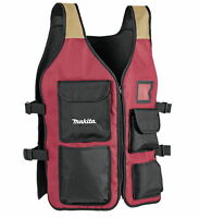 MAKITA Red Worker's Vest / Tool Vest for Carpenters 66-127/66-128 in M/L Size